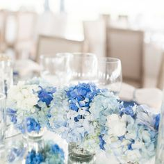 Blue Wedding Cakes + Desserts