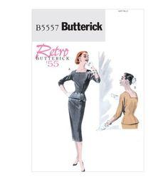 Butterick 5557 1950-х годов Репро Урожай выкройке: Встроенная топ и юбка