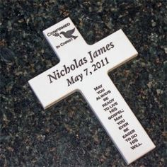 Personalized Confirmation Cross & Keepsake Box.  Handcrafted in the USA.