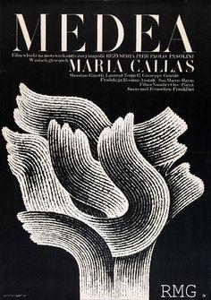 """Medea"" Dir: Pasolini1970- Polish Film Posters by Andrzej Bertrandt"