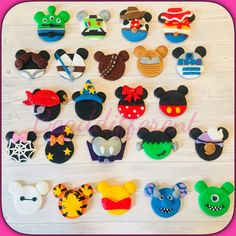 Disney Diy, Fimo Disney, Polymer Clay Disney, Polymer Clay Kunst, Cute Polymer Clay, Cute Clay, Polymer Clay Dolls, Polymer Clay Flowers, Polymer Clay Miniatures