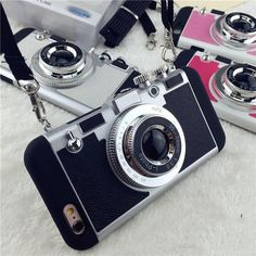 2017 New Luxury Cute camera phone Case Cover for iPhone 6 7 / 6 7 Plus. Hard PCSoft TPU Hybrid Shells with Metal vintage camera soft TPU Cases for iPhone Iphone 6, Iphone 7 Plus, 3d Iphone Cases, Iphone Camera, Apple Iphone, 3d Camera, Retro Camera, Camera Case, Digital Camera