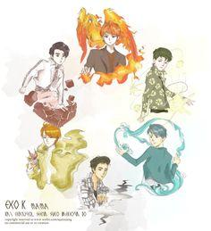 MAMA!Chanyeol, Baekhyun, Suho, Chen, Sehun, D.O