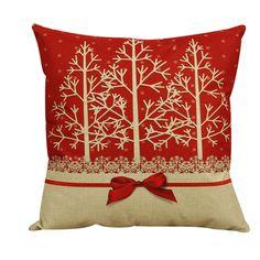 Vintage Christmas decorative Cushion Cover Throw Pillow Pillowslip Case for Sofa Bed square Cotton Linen 45cm capas de almofada