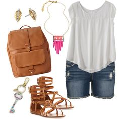 Plus size style for summer., created by hamtowntracey on Polyvore