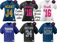 Custom Glitter Football Jersey Personalize by GirlieGirlCouture