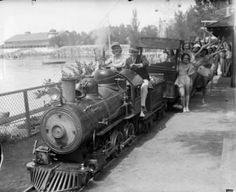 """Lakeside obtained two trains from the St. Louis world's fair of 1904 """"Puffing Billy"""" and """"Whistling Tom""""  If anyone has noticed the trains have not been running for about 2 seasons now due to the lack of finding original parts....:("""