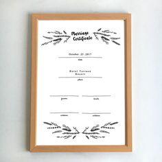 【結婚証明書】 A4サイズ額フレーム付 〔ウェディング〕