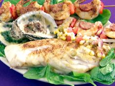 Grilled Grouper Fillets with Creole Salsa from FoodNetwork.com