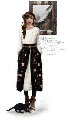 """""""Across the snowy places. {smib}"""" by fleetingfanfan ❤ liked on Polyvore"""