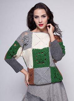 Granny Square Crochet Sweater