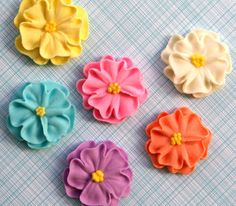 Idea for decorating cookies or cupcakes