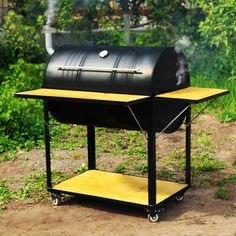 Design Barbecue, Grill Design, Grill Diy, Bbq Diy, Oil Drum Bbq, Homemade Tools, Homemade Smoker, Barrel Grill, Fire Pit Bbq