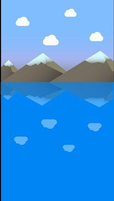 Montagne sur un lac
