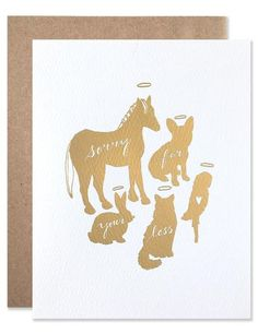 - x blank card - Comes with a kraft envelope in a protective cellophane sleeve - post-consumer fiber envelope - Foil stamped on felted paper in NYC - Available in gold only Nail Tattoo, Foil Stamping, Kraft Envelopes, Sympathy Cards, Happy Anniversary, Blank Cards, Gold Foil, Letterpress, Moose Art