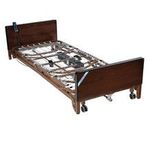 Delta Ultra Light Full Electric Low Bed with Full Rails - 15235bv-fr
