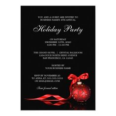Corporate Holiday Party Invitations #corporate #christmas #party #invitations #corporate Christmas Dinner Invitation, Holiday Party Invitation Template, Christmas Wedding Invitations, Invitation Templates, Printable Party, Flyer Template, Invitation Ideas, Open House Invitation, Holiday Parties