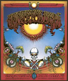 Rick Griffin poster for the Grateful Dead 1969