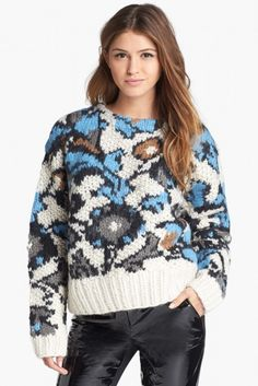 Topshop Unique Slouchy Knit Sweater