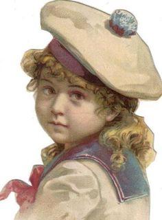 Victorian Cut Out Paper Scrap Little Sailor Girl C1880s | eBay