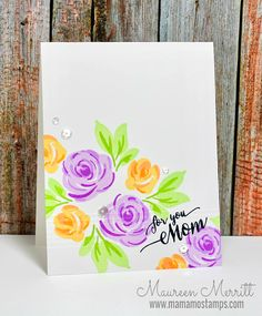 One Layer Card for Mother's Day