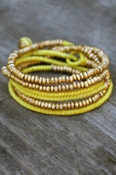 Serefina Jewelry 'Yellow Wrap Bracelet' | Orchid Boutique