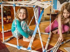 Build Newspaper Structures with Your Kids–It's a Toy that You Can Recycle