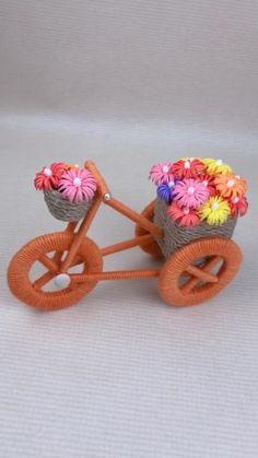 Diy Crafts For Home Decor, Diy Crafts For Kids Easy, Diy Crafts For Gifts, Diy Arts And Crafts, Craft Stick Crafts, Creative Crafts, Yarn Crafts, Rope Crafts, Fabric Crafts
