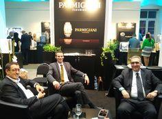 Our team - Mr. Topalli (owner of the brand BENY jewellery), Sebastian (representative of Parmigiani) and Mr. Pistillo (co-worker of Mr. Topalli)