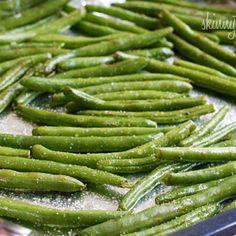 Roasted Parmesan Green Beans Recipe @Jackie Godbold Vaccarello veggie option?