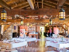 Interior shot of beautiful Navy Hall. Preparations for a wedding ceremony. Vintage and rustic style decorations. #JoshBellinghamPhotography