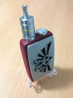 The Zelda Mod from the BB Mods line up by Leaf Productions.  A dual 18650 wood mech box mod.