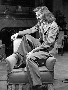 Hepburn - Wearing pants when women just didn't wear pants. Many years ahead of  her time. - Pinned by odyglo