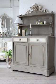 """Antique furniture antique dresser France baroque decoration"" ancient and modern times, gently Coconfouato [antique lighting and antique furniture. Chalk Paint Furniture, Furniture Projects, Furniture Makeover, Diy Furniture, Modern Furniture, Furniture Layout, Furniture Design, Diy Projects, Repurposed Furniture"
