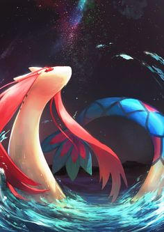 DREAM TEAM I needed a water type somewhere in my collection of Pokémon, and I love Hoenn, so I found a graceful pokemon with a whopping powerful aqua tail.
