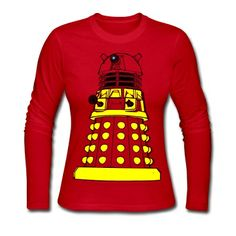 Color Your Own Dalek! Long Sleeve Shirt | Spreadshirt | ID: 13413170