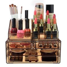 Makeup Tool Box, Makeup Storage Organization, Makeup Tools, Unique Makeup, Diy Makeup, Beauty Makeup, Hair Beauty, Beauty Dupes, Drugstore Makeup