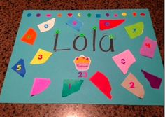 Preschool Wonders- First day of preschool activity...place mats to be used at snack and/or lunch. So doing this!