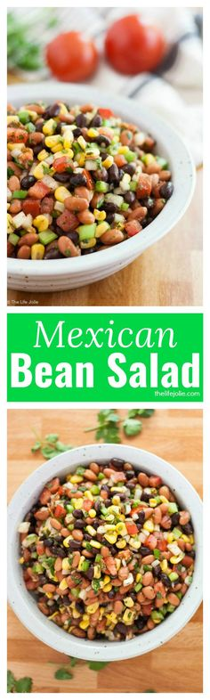 This Mexican Bean Salad recipe makes a quick and simple salad. It's healthy and easy to make and is so full of delicious flavor!