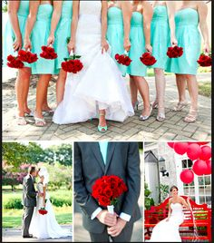 Not completely sure about this teal and red combo...maybe a light shade of red?                                                                                                                                                                                 More