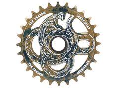 """The Shadow Conspiracy """"Serpent 25T"""" Sprocket - Oil Spill   kunstform BMX Shop & Mailorder - worldwide shipping"""