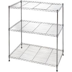 Offer a fabulous expression to your home decor by choosing this Muscle Rack Shelf Steel Wire Chrome Finish Commercial Shelving Unit. Wire Shelving Units, Shelving Racks, Rack Shelf, Metal Shelves, Storage Rack, Open Shelving, Storage Ideas, Shelving Ideas, Storage Solutions