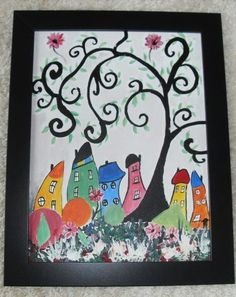 Paintings Acrylic  Scenic Quirky Surreal Art, Homeware Wall Decor For Children £30.00