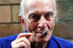Italy's most famous whisky connoisseur and distiller Silvano Samaroli smoking a Toscano cigar (from blog Porzioni Cremona http://www.porzionicremona.it/)