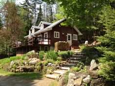 Cozy Cabin in the Woods Bordering on Cross Country Trails.Vacation Rental in Morin-Heights from Cozy Cabin, Cozy Cottage, Bike Trails, Biking, Vacation Spots, Vacation Rentals, Cabins And Cottages, Cabin Homes, Cabins In The Woods