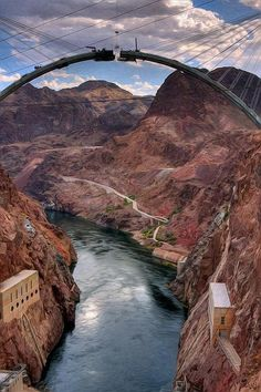 Amazing Places - about-usa: Black Canyon - Nevada - USA. Places In Usa, Places Around The World, Places To Go, Around The Worlds, Nevada Usa, Hoover Dam, Landscape Photos, Beautiful Landscapes, Wonders Of The World