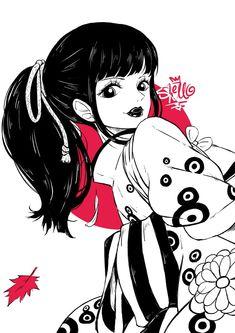 One Piece girls : O-Kiku & Manga One Piece Manga, One Piece Fanart, Character Concept, Character Design, Akuma No Mi, One Piece Photos, One Piece World, Arte Obscura, Nico Robin