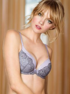 I kind of love how she looks with bangs. And in bras. - Imgur