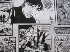 Stoffe gemustert - Stoff FQ :: Schwarz und Weiß Comic :: - ein Designerstück von nosgustanlosretros bei DaWanda
