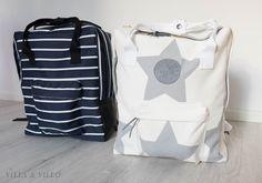 Villa and Villa: DIY backpack Diy Pouch Bag, Mochila Kanken, Diy Backpack, Diy Bags Purses, Fabric Stamping, Denim Bag, Fabric Bags, Sewing Accessories, Handmade Bags